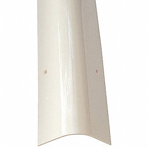 Corner Guard,OAH48In,White,Rounded Angle