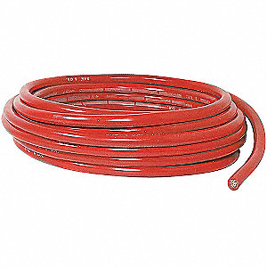 Battery Cable,4 ga.,Solid,600V,PVC,Red