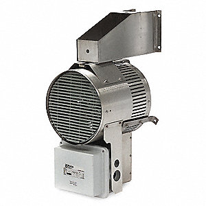 Electric Washdown Heater, Voltage 480, 3 Phase, 34,120 BtuH, 700 cfm