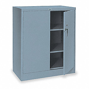 "Storage Cabinet, Gray, 42"" Overall Height, Unassembled"
