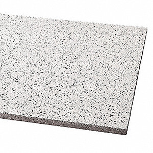 "Acoustical Ceiling Tile, 24"" Width, 48"" Length, 5/8"" Thickness, Mineral Fiber"