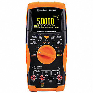 Digital Multimeter, Full Size Multimeter Style, 1000 Max. AC Volts, 1000