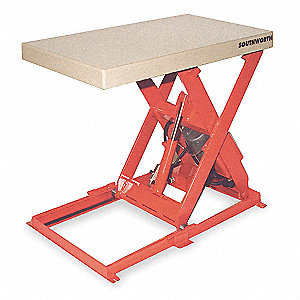 Scissor Lift Table,1100 lb.,115V,1 Phase
