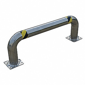 Natural Low Profile Machine Guard, 304 Stainless Steel, Floor Mounted Mounting Style