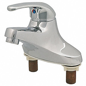 Brass Bathroom Faucet, Lever Handle Type, No. of Handles: 1