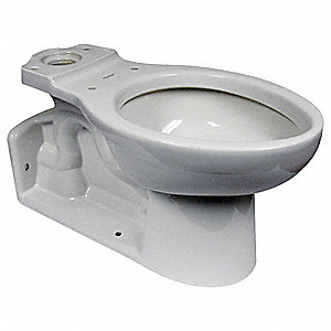 Toilet Bowl, Floor with Back Outlet Mounting Style, Elongated, 1.1 to 1.6 Gallons per Flush