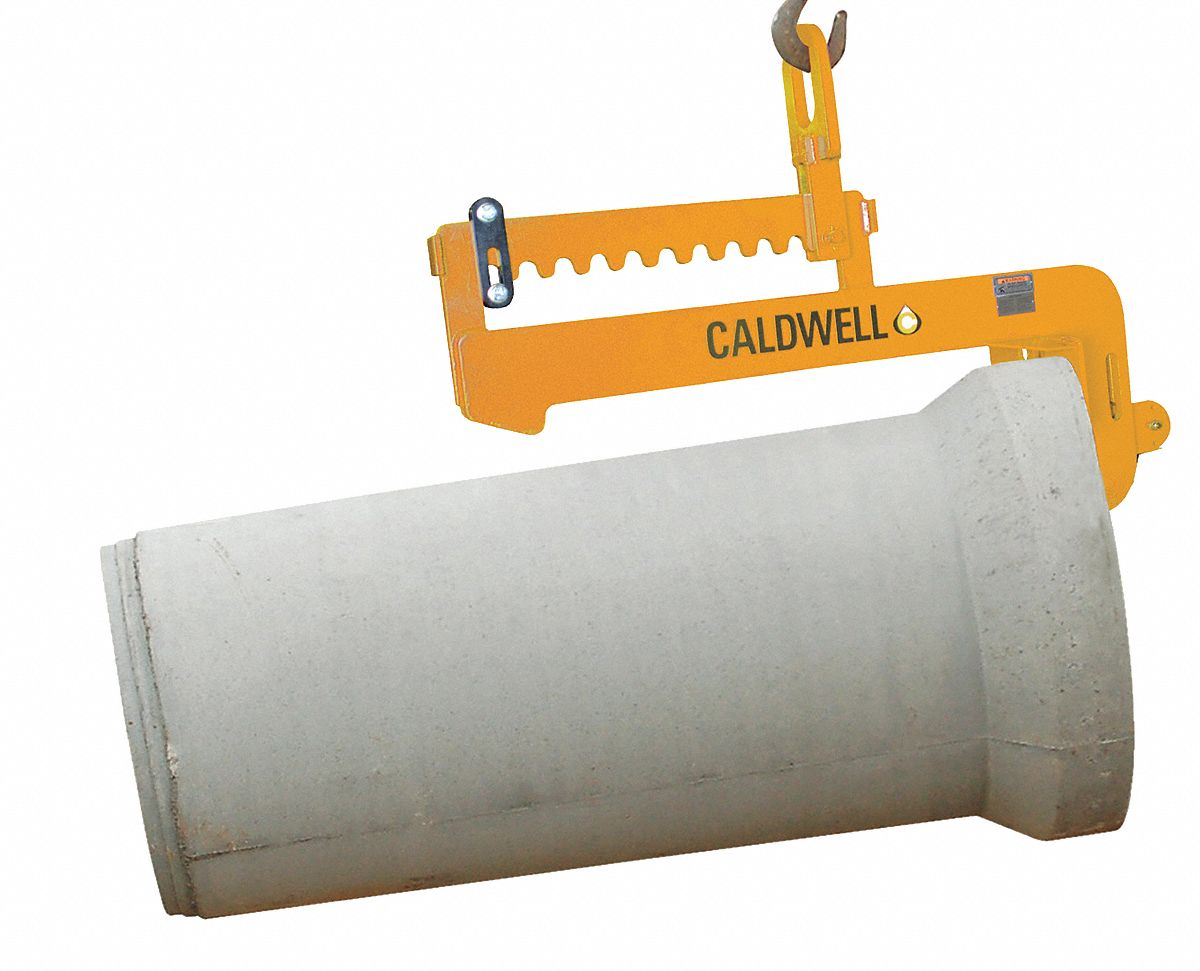Rinker Materials Concrete Pipe Handling : Caldwell c hook leveling pipe lifter quot lb
