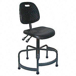 "Black Industrial Task Chair, 22 to 32"" Seat Height Range, 250 lb. Weight Capacity"