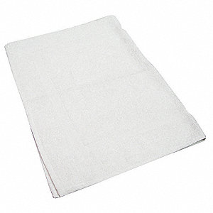 Bath Mat, 20x30 In., White,PK12
