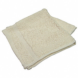 Wash Cloth, 12x12 In, Beige,PK12
