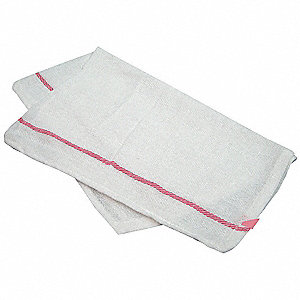 Herringbone Towel,15x26 In., White,PK12