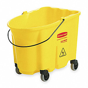 Mop Bucket,8.75 gal.,Yellow