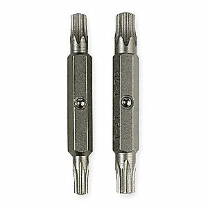 Replacement Bit Set,2-1/4 In. L,PK2