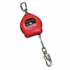 Self-Retracting Lifeline,20ft,Red,400lb