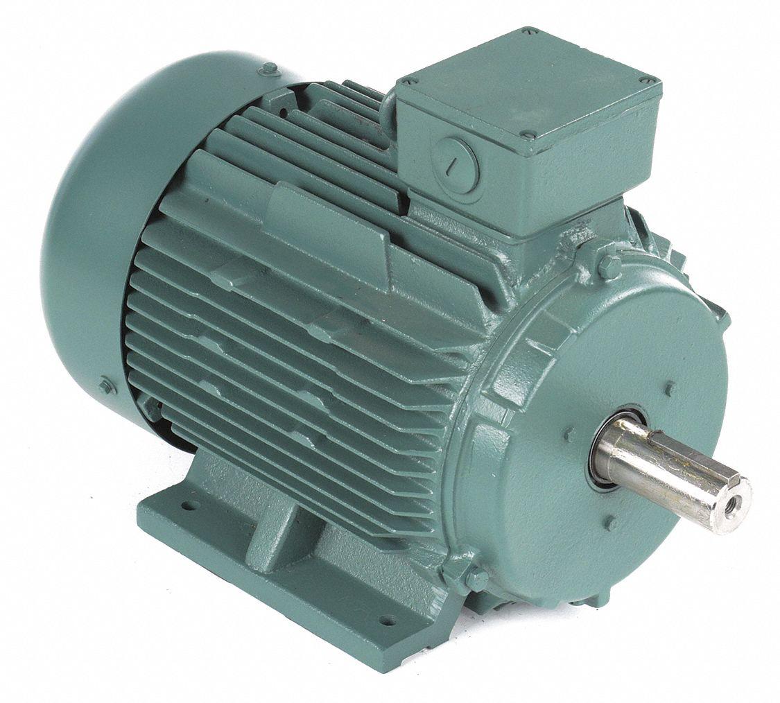 Leeson 10 hp premium efficiency metric motor 3 phase 1765 for Single phase motor efficiency