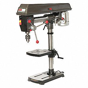 1/2 Motor HP Radial Bench Drill Press, 120
