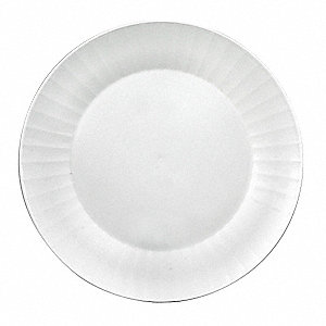 Disposable Plate,6 In,White,PK 160