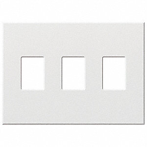 lutron dimmer switch wall plate 3 gang white 5pwp6 vwp 3 wh grainger. Black Bedroom Furniture Sets. Home Design Ideas