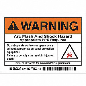 Arc Flash Protection Label