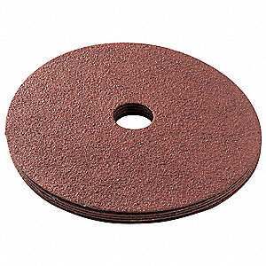 "5"" Arbor Mount Sanding Disc, Aluminum Oxide, 120 Grit, 1/2"", Closed Coat, Resin Bonded, GV5010, PK5"