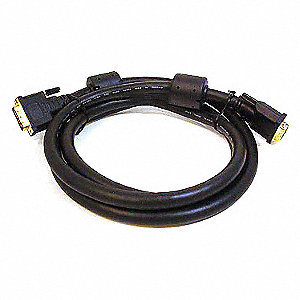 Computer Video Cable, 10 ft. Cable Length, DVI-D Dual-Link Male to DVI-D Dual Link Male
