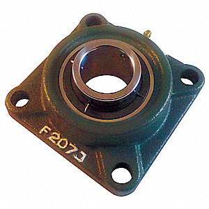 "Mounted Ball Bearing, Number of Bolts: 4, Ball Bearing Type, 2"" Bore Dia."