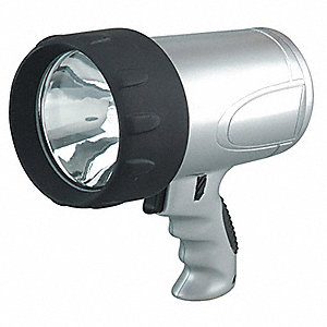 Industrial Spotlight,Halogen,Blk/Sl