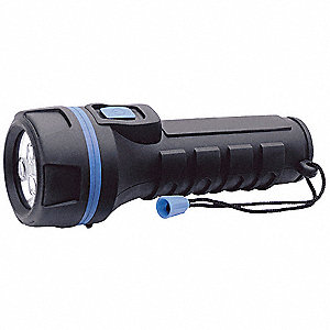 Industrial Flashlight,LED,D,16 lm