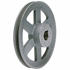 "V-Belt Pulley,3/4""Fixed,6.25""OD,CastIron"