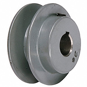 "V-Belt Pulley,7/8""Fixed,3.05""OD,CastIron"