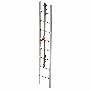 Vertical Access Ladder System Kit, 50 ft. Length, Permanent Installation, 1 Workers Per System