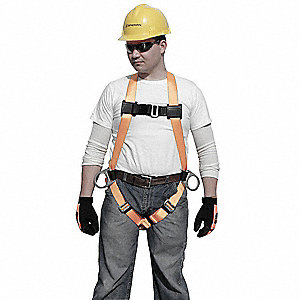 Full Body Harness,Unversal,400lb,Blk/Gld
