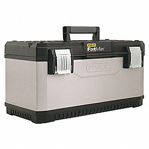 "Portable Tool Box, Metal and Resin, 26"" Overall Width x 12"" Overall Depth"