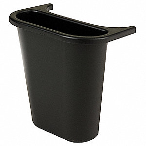 1.19 gal. Black Recycling Saddle, Open Top