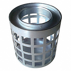 "Side Square Perforations Suction Strainer, Steel, 6"" Diameter"