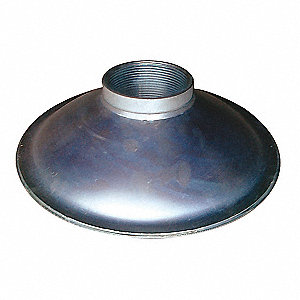 "Bottom Round Perforations Suction Strainer, Steel, 4"" Diameter"
