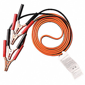 Booster Cable,LD,10 AWG,12 Ft,Std Jaw