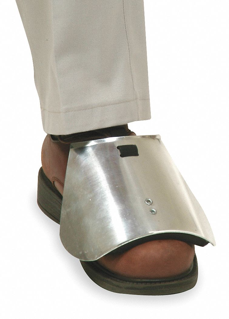 Grainger Approved Unisex Aluminum Overshoe Steel Toe Guard
