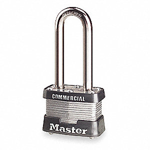 Padlock,KA,2 In H,4 Pin,Steel