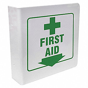 First Aid Sign,8 x 8In,GRN/WHT,First Aid