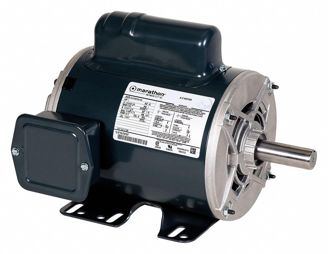 Marathon motors 3 hp general purpose motor capacitor start for Electric motor starting capacitor replacement