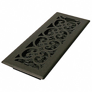 4x12 Scroll Steel Painted Textured Black