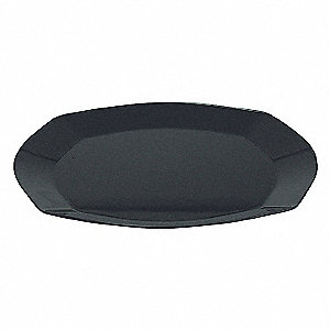 Square Plate,9 In,Black,PK 240