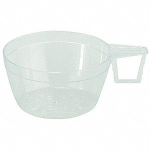 6 oz. Disposable Cup, Polystyrene Plastic, Clear, PK 240