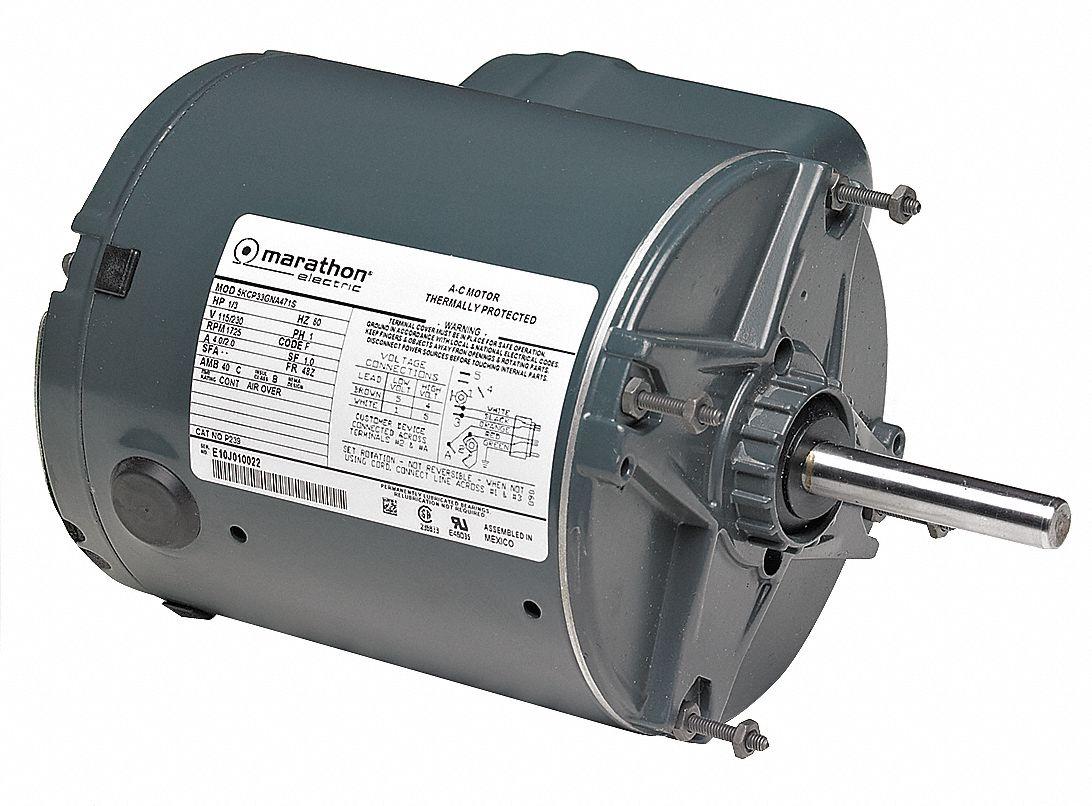 Marathon motors farm duty motor psc tenv 1 3 hp 1725 rpm for Farm duty electric motor