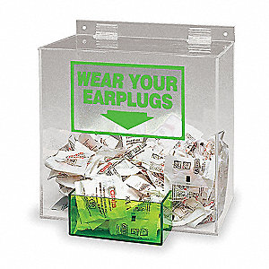 Ear Plug Dispenser,Univ,Holds 200 PR