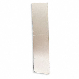 "Door Protection Plate, Stainless Steel, Kick/Stretcher, 12"" Height, 34"" Width"