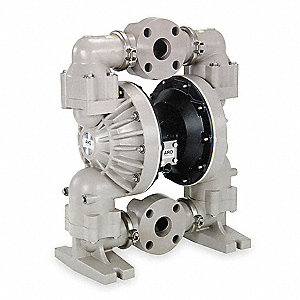 Polypropylene Neoprene Flanged Double Diaphragm Pump, 139 gpm, 120 psi