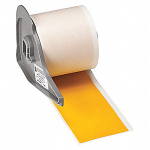 "Yellow Vinyl Film Label Tape Cartridge, Indoor/Outdoor Label Type, 50 ft. Length, 2"" Width"