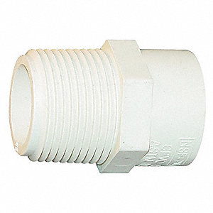"CPVC Reducing Adapter, CTS, 3/4"" x 1/2"" Pipe Size, CTS Hub x MIP Connection Type"